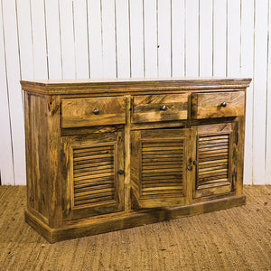 SN Shutter 3 Drawer 3 Door Sideboard