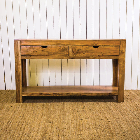 Acana New Wave Console Table 2 Drawer Ledge