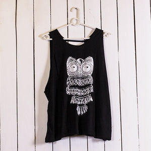 Owl Open Back Top