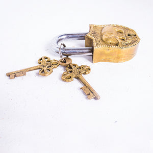 Elephant Shiny Brass Lock