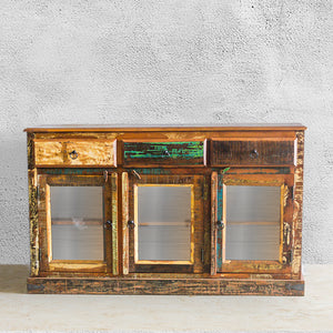 RAM 3 Door 3 Glass Sideboard