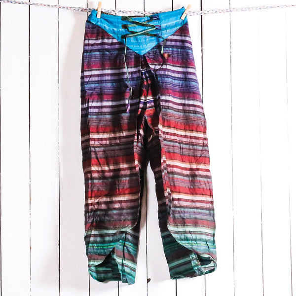 Shoe String Cotton Curtain Pants