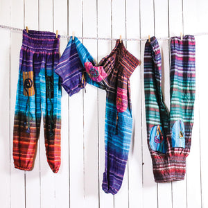 Spiral Balloon Cotton Pants