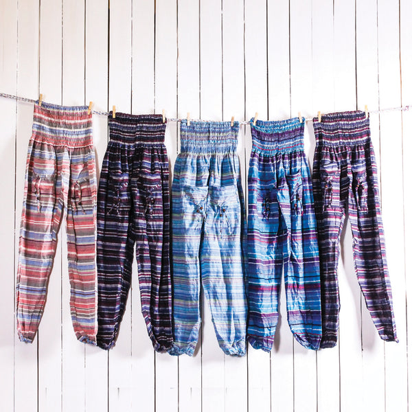 Stripe Cotton Pants