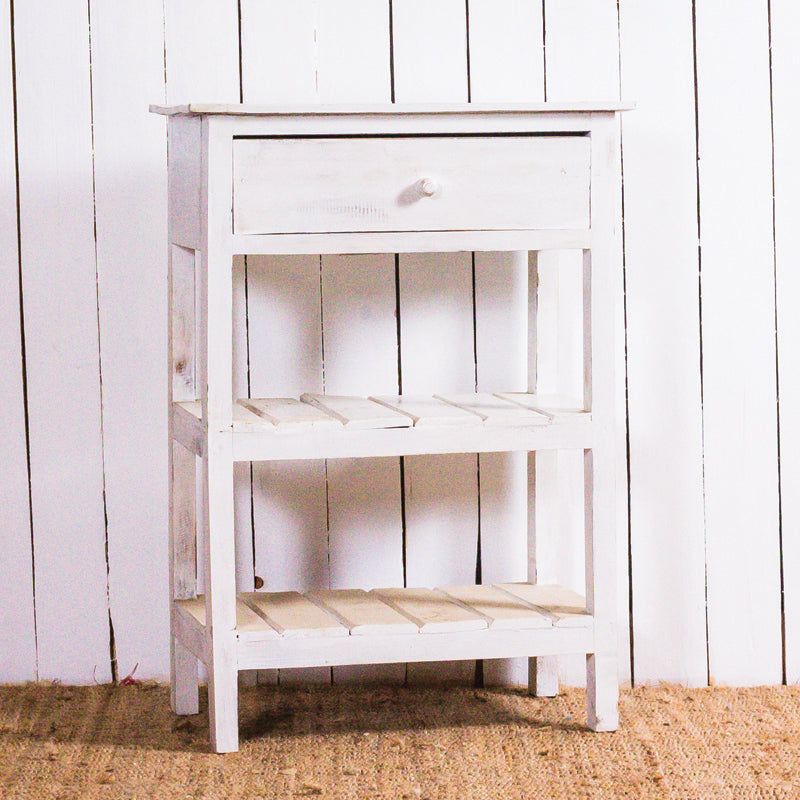Ayu 1 Drawer 2 Shelf Bedside Table