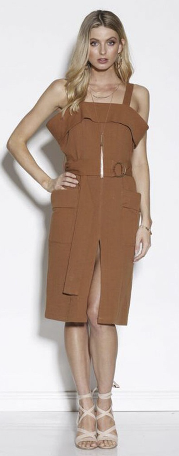 NOMAD MIDI DRESS TERRACOTTA
