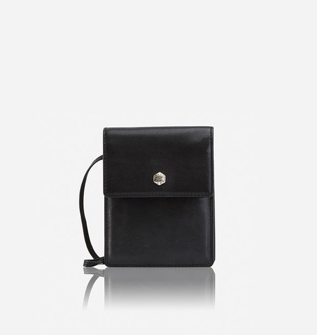 Contemporary Leather Crossbody Bag - Black