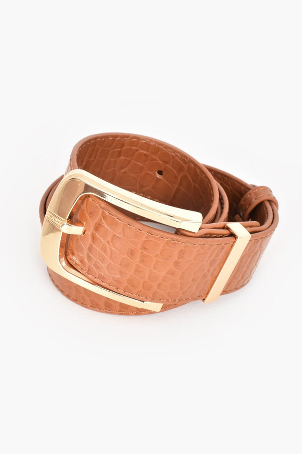 Tash Croc Embossed Belt