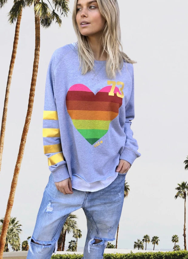 Retro Sweat with Heart