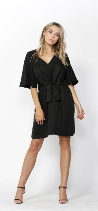 Must Have Tie Front Dress - Black