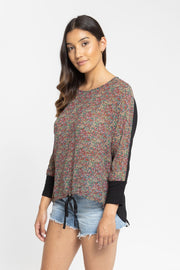 Days End Rib Sleeve Top