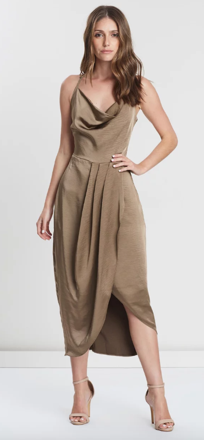 SALE Fire In The Soul Midi Dress Umber Size WAS $295 NOW