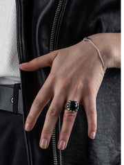 Stolen Girlfriends Club claw ring onyx