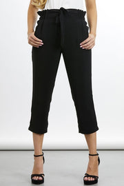 Kylie Cropped Pant -Black