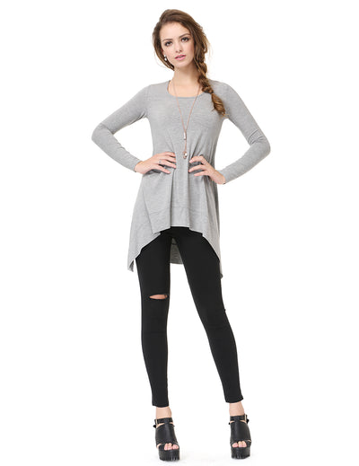 Alisa Pan Simple Fashion Round Neck Long Sleeve T-shirt