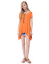 Alisapan Simple Fashion Round Neck Short Sleeve T-Shirt-Orange 6
