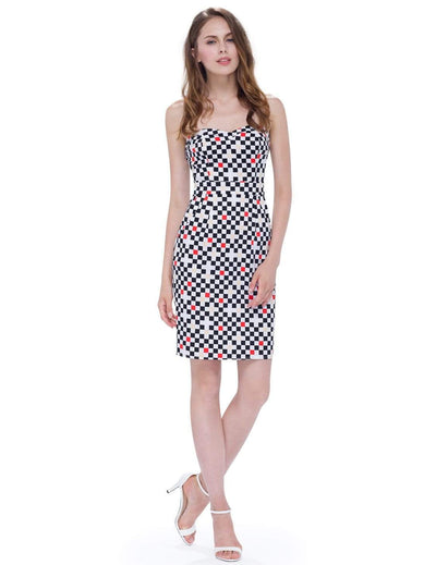 Alisa Pan Strapless Sweetheart Printed Party Dress