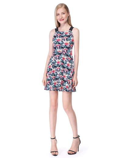 Alisa Pan Floral Print Casual Summer Dress