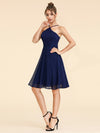 Alisa Pan Short Sleeveless Halter Dress-Navy Blue  3