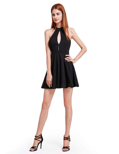 Alisa Pan Halter Neck Little Black Dress