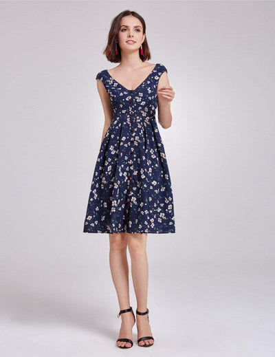 Alisa Pan Floral Printed Casual Dress