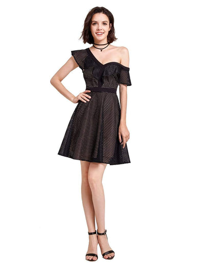 Alisa Pan One Shoulder Party Dress