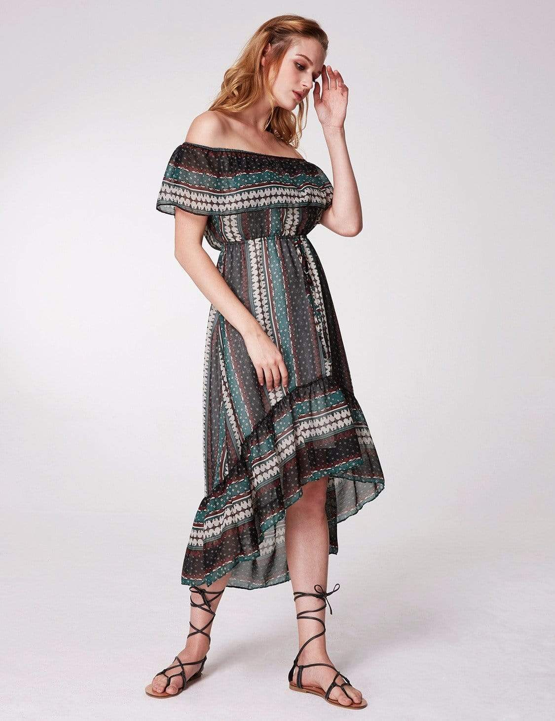 499ea82240 Alisa Pan Off Shoulder Printed Boho Dress|Ever-Pretty - Ever Pretty EU
