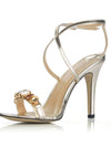 Show Story Women'S Fashion Rhinestone High Heels-Gold  4