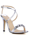 Show Story Women'S Fashion Rhinestone High Heels-Silver  1