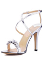 Show Story Women'S Fashion Rhinestone High Heels-Silver  4