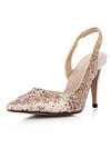 Show Story Sequin Wedding Party High Heels-Gold  4