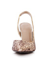 Show Story Sequin Wedding Party High Heels-Gold  5
