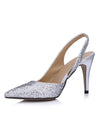 Show Story Sequin Wedding Party High Heels-Silver  2