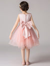Cute O-Neck Lace Wedding Flower Girl Dress-Pink  2