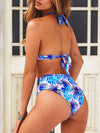 Women'S Colorful Printed Beach Wear Summer Swimsuit-Sky Blue 2