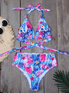 Women'S Colorful Printed Beach Wear Summer Swimsuit-Purple 1