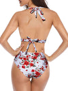 Women'S Colorful Printed Beach Wear Summer Swimsuit-White 2