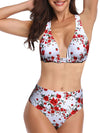Women'S Colorful Printed Beach Wear Summer Swimsuit-White 1