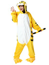 Cute Onesie Flannel Cartoon Pajamas For Family-Yellow 1