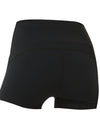 Classic High Waist Fitness Yoga Shorts For Women-Black 2
