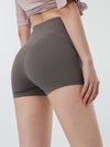 Classic High Waist Fitness Yoga Shorts For Women-Grey 1