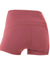 Classic High Waist Fitness Yoga Shorts For Women-Red 2