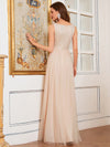 Comfy Deep V Neck A-Line Tulle Prom Dress For Women-Blush 2