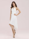 Plain Round Neck Lace & Chiffon Wedding Dress For Women-Cream 1