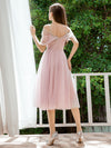 Charming Off-Shoulder Tulle Prom Dresses With Spaghetti Straps-Mauve 2