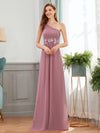 Elegant One Shoulder A-Line Evening Dresses With Applique-Purple Orchid 4