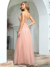 Cute One Shoulder Ruched Bust Bridesmaid Dresses With Appliques-Pink 2
