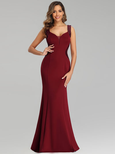 Sexy Sleeveless Long Mermaid Evening Dresses