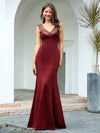 Sexy V-Neck Floor Length Mermaid Party Dress With Sequin-Burgundy 5