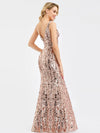 Ever-Pretty Fishtail Rose Gold Sequin Dresses For Women-Rose Gold  7